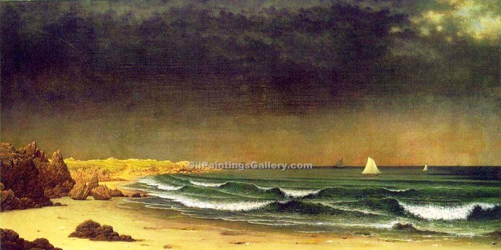 """Approaching Storm, Beach Near Newport"" by  Martin Johnson Heade"