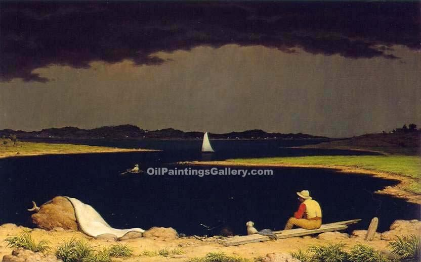 """Approaching Thunderstorm"" by  Martin Johnson Heade"