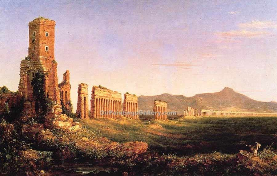 """Aqueduct near Rome"" by  Thomas Cole"