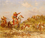 Arab Warriors on Horseback by  Georges Washington (Painting ID: ED-0402-KA)