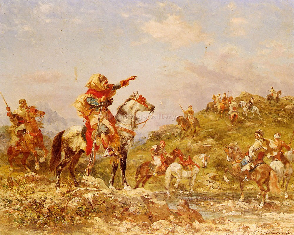 """Arab Warriors on Horseback"" by  Georges Washington"