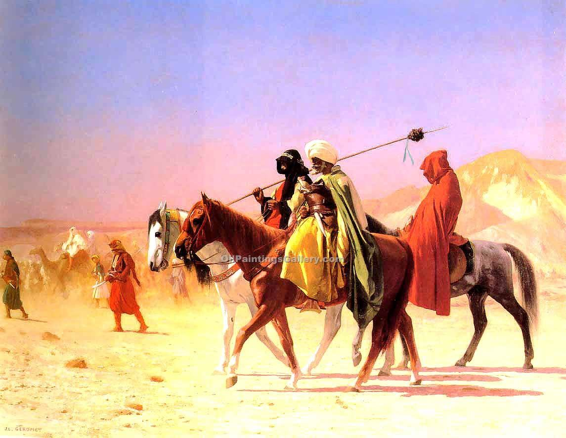 """Arabs crossing the Desert"" by  Jean Leon Gerome"