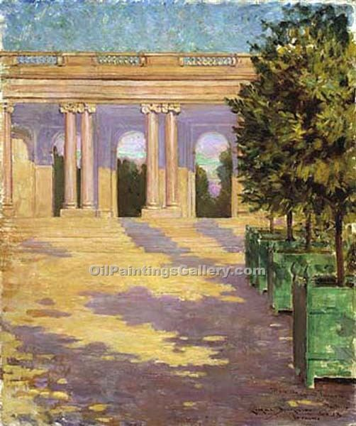 """Arcade of the Grand Trianon Versailles"" by  James Carroll Beckwith"