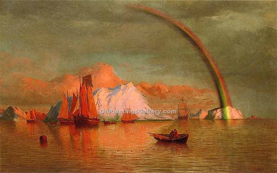 """Arctic Sunset with Rainbow"" by  William Bradford"
