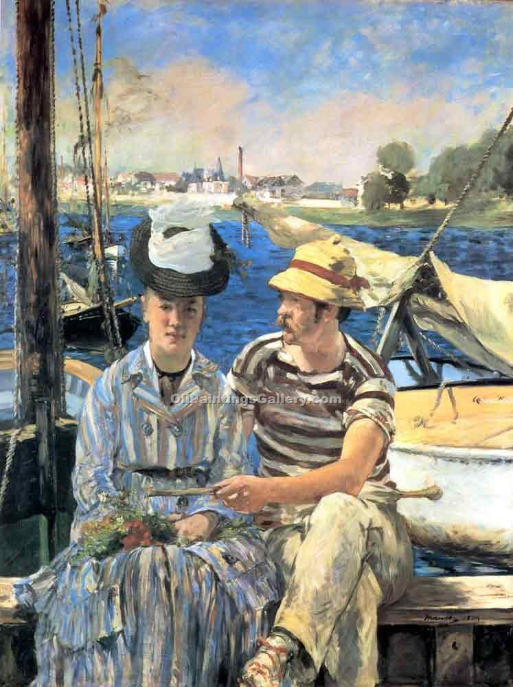 """Argenteuil 10"" by  Edouard Manet"