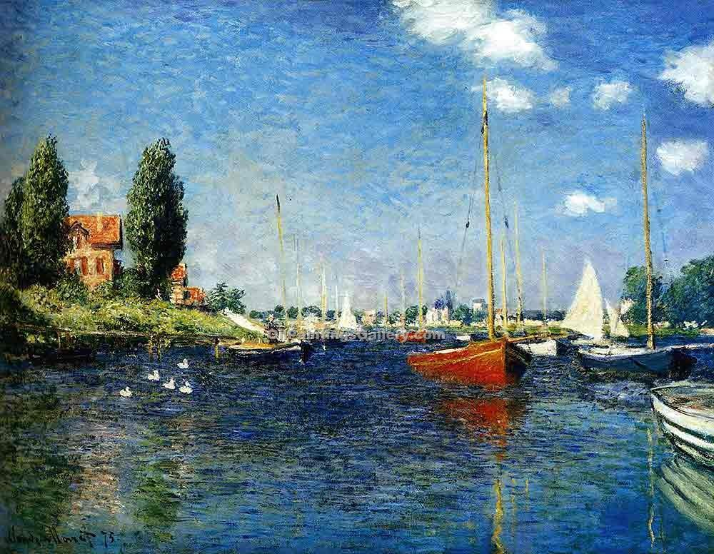 """Argenteuil 84"" by  Claude Monet"