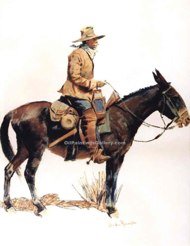 """Army Packer"" by  Frederic Remington"