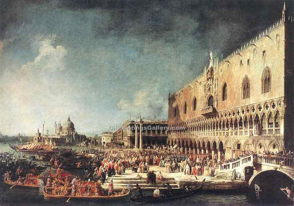 """Arrival of the French Ambassador in Venice"" by  Antonio Canaletto"