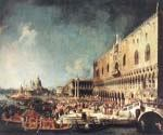 Arrival of the French Ambassador in Venice by  Antonio Canaletto (Painting ID: CI-2007-KA)