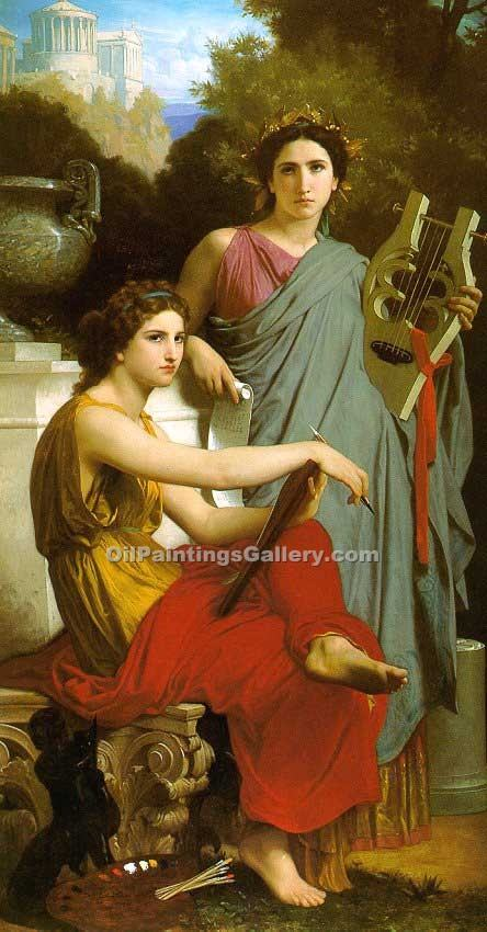 """Art and Literature"" by  Adolphe Bouguereau"