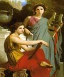 Art and Literature by  Adolphe Bouguereau (Painting ID: CL-3431-KA)