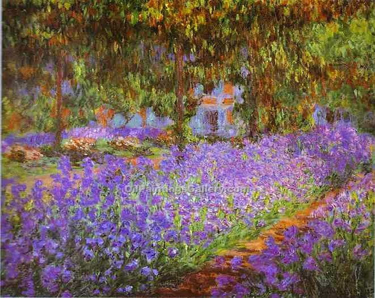 """Artist s Garden at Giverny"" by  Claude Monet"