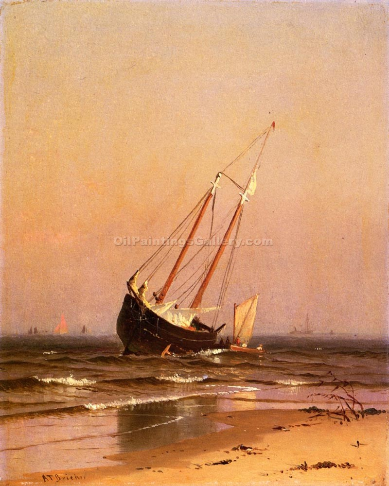 """Ashore on Salisbury Beach"" by  Alfred Thompson Bricher"