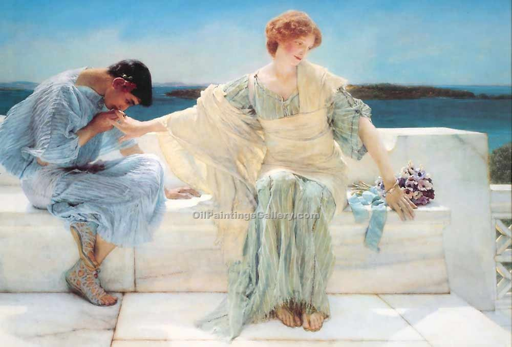"""Ask Me No More"" by  Sir Lawrence Alma Tadema"