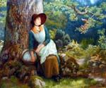 Asleep in the Woods by  Arthur Hughes (Painting ID: CL-2072-KA)