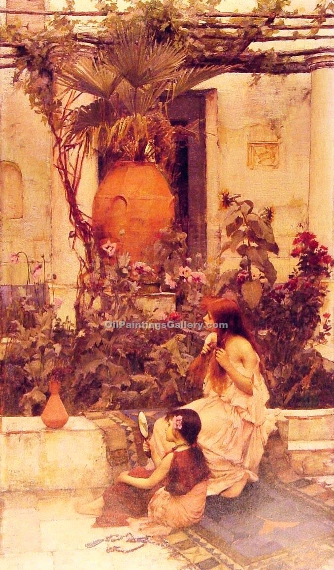 """At Capri"" by  John William Waterhouse"
