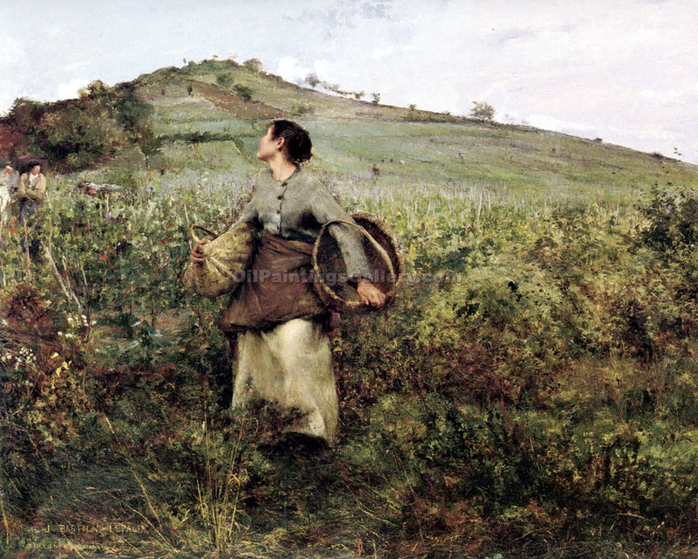 """At Harvest Time"" by  Jules Bastien Lepage"