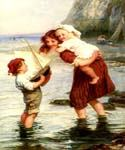 At Scarborough, England by  Frederick Morgan (Painting ID: CL-4055-KA)