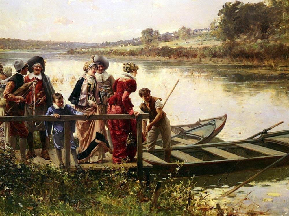 """At The Ferry"" by  Adrien Moreau"