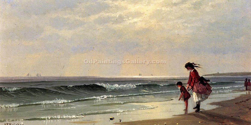 """At The Shore"" by  Alfred Thompson Bricher"