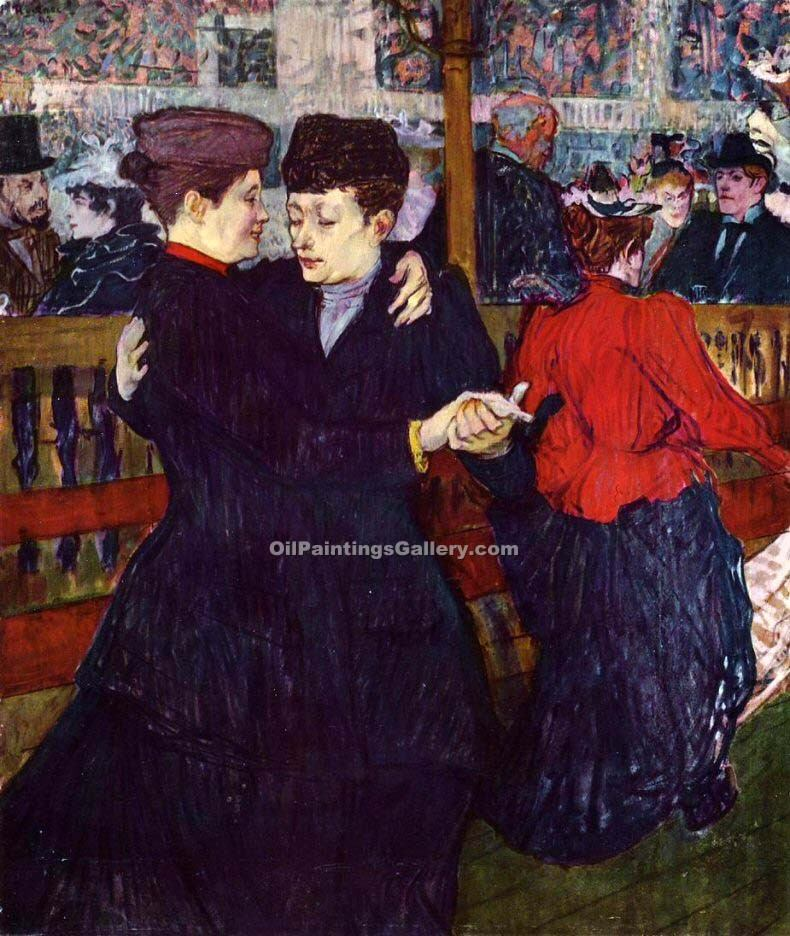 """At the Cafe The Customer and the Anemic Cashier 08"" by  Henri Toulouse Lautrec"