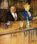 At the Cafe The Customer and the Anemic Cashier 38 by  Henri Toulouse Lautrec (Painting ID: ED-1138-KA)