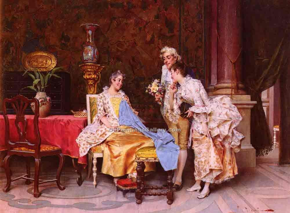 """At the Dressmakers"" by  Adriano Cecchi"