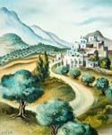 At the Foot of Mount Hermon by  Dan Livni (Painting ID: AD-0321-KA)