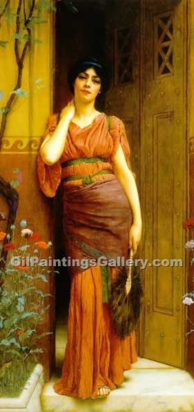 """At the Garden Door"" by  John William Godward"