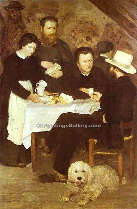 At the Inn of Mother Anthony by Pierre Auguste Renoir | Custom Made Paintings - Oil Paintings Gallery