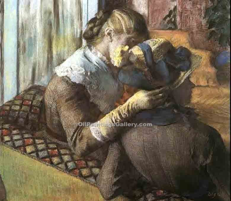 """At the Milliner 1"" by  Edgar Degas"