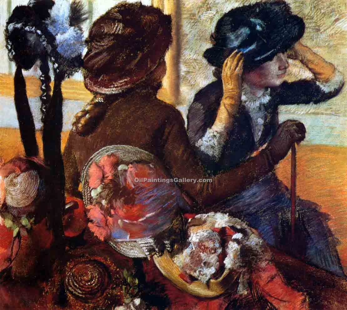 """At the Milliner"" by  Edgar Degas"