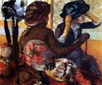 At the Milliner by  Edgar Degas (Painting ID: ED-1046-KA)