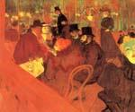 At the Molin Rouge by  Henri Toulouse Lautrec (Painting ID: ED-1140-KA)