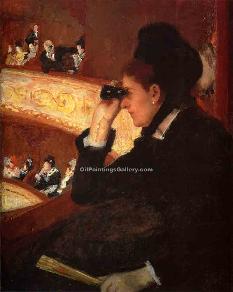 """At the Opera 52"" by  Mary Cassatt"