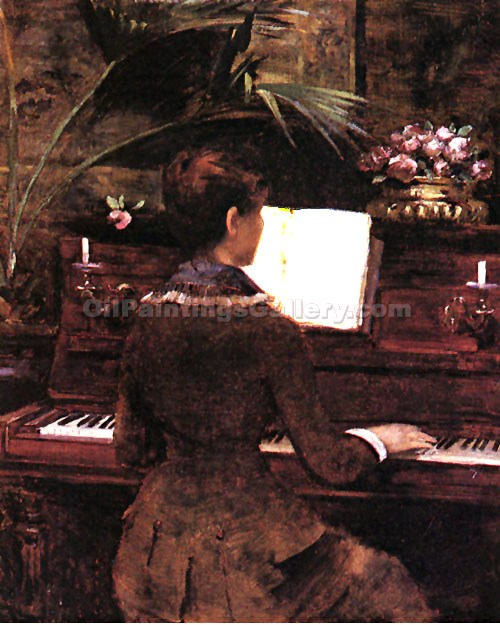 """At the Piano"" by  Louise Abbema"