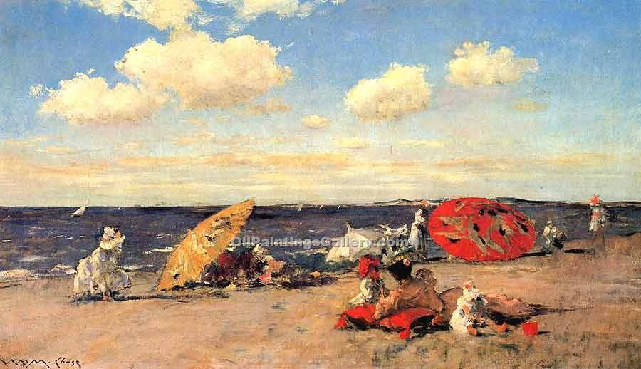 """At the Seaside"" by  William Merritt Chase"
