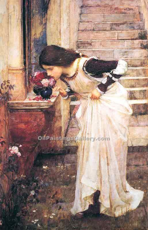 """At the Shrine"" by  John William Waterhouse"