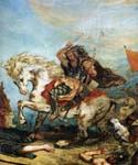 Attila and his Hordes Overrun Italy and the Arts (detail) by  Eugene Delacroix (Painting ID: AN-2014-KA)