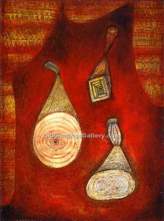 Attrappen by Paul Klee | Modern Painting Reproductions - Oil Paintings Gallery