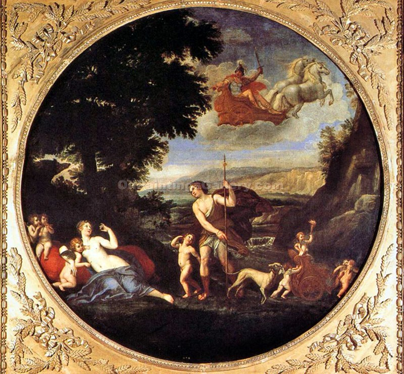 Autumn (Venus and Adonis) by FrancescoAlbani | African American Paintings - Oil Paintings Gallery