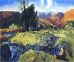 Autumn Brook 22 by  George Bellows (Painting ID: GE-2222-KA)
