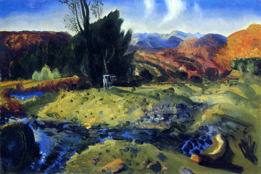 """Autumn Brook 54"" by  George Bellows"