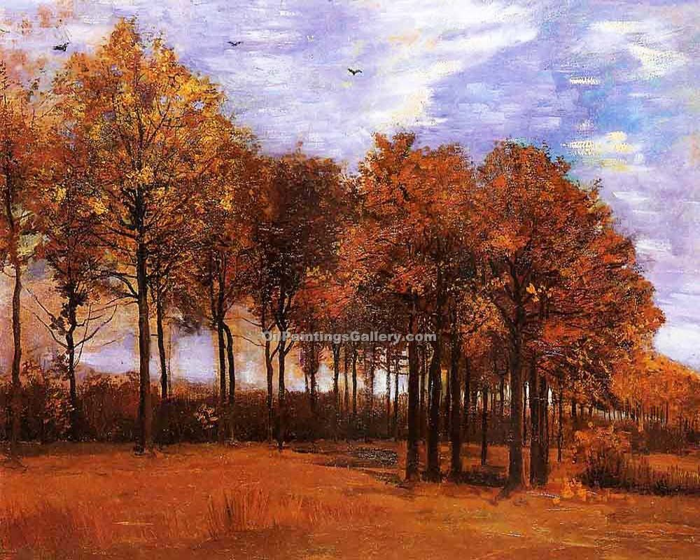 """Autumn Landscape 36"" by  Vincent Van Gogh"