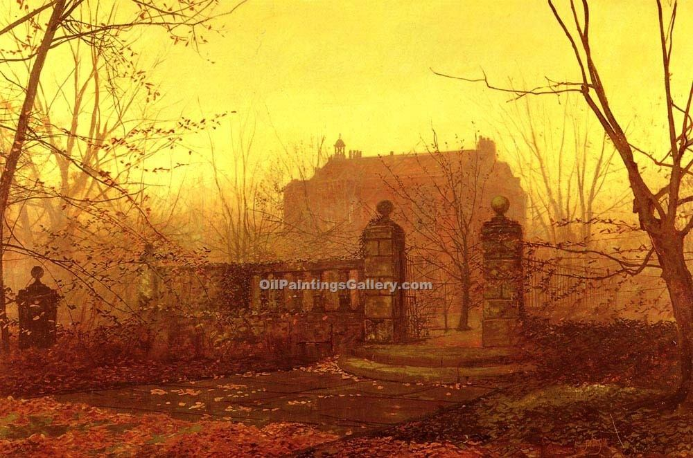 """Autumn Morning 44"" by  John Atkinson Grimshaw"