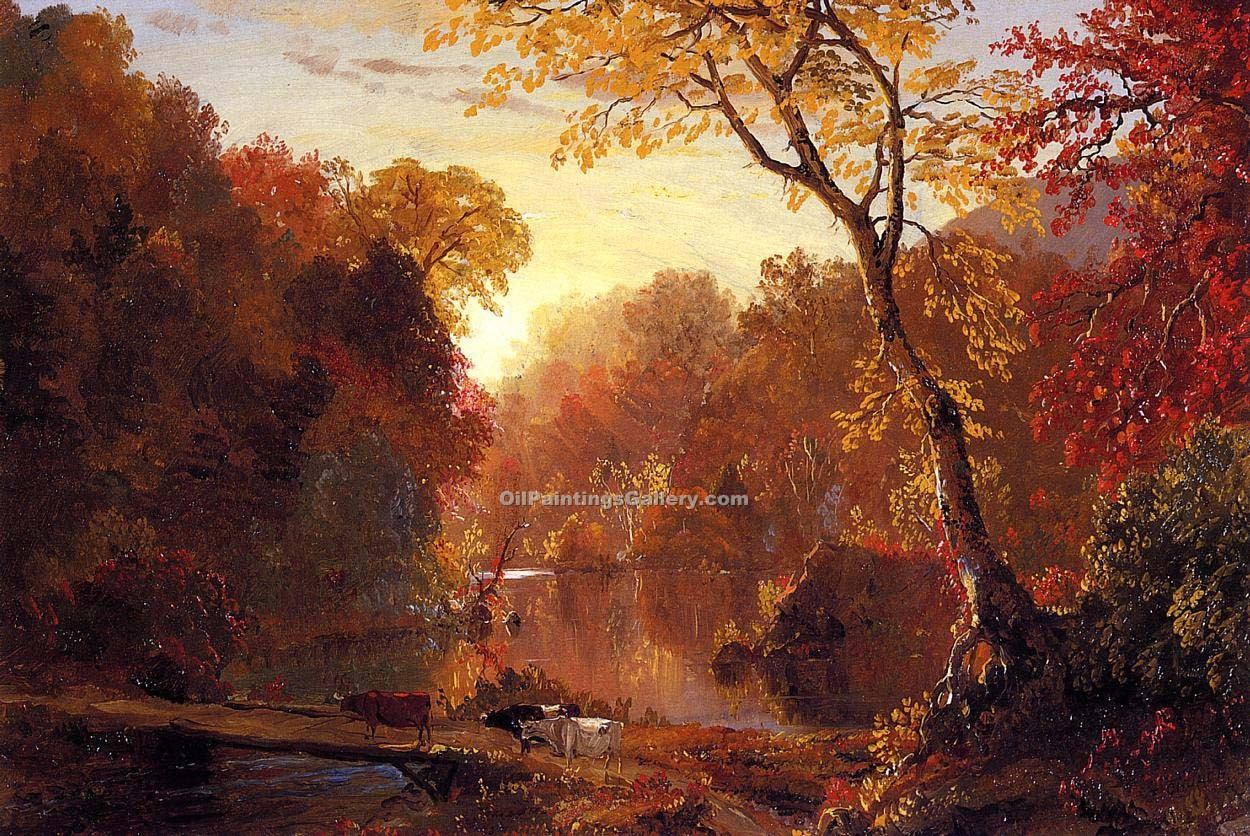 """Autumn in North America"" by  Frederic Edwin Church"