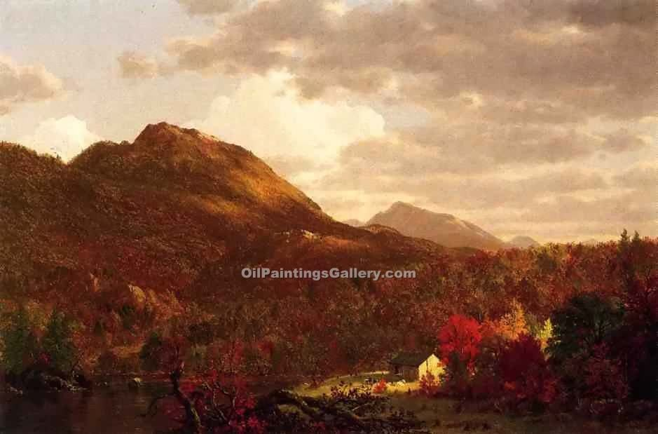 """Autumn on the Hudson"" by  Frederic Edwin Church"