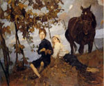 Autunno by  Ettore Tito (Painting ID: ED-0607-KA)