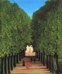 Avenue in the Park at Saint Cloud by  Henri Rousseau (Painting ID: RO-0100-KA)