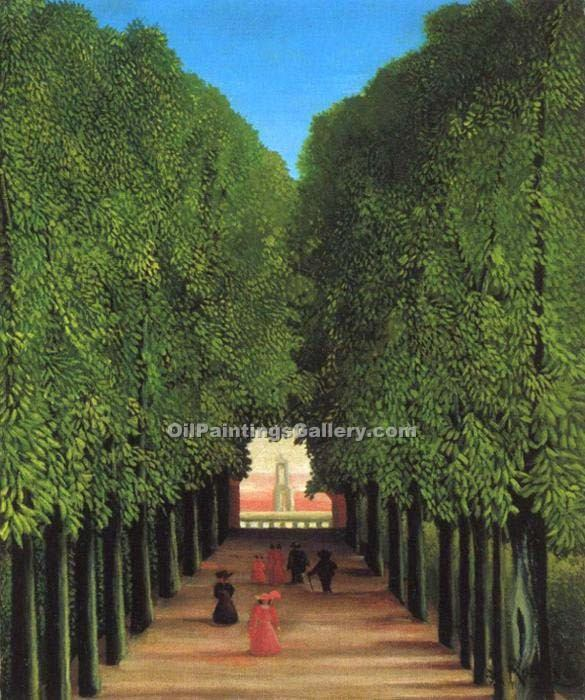 """Avenue in the Park at Saint Cloud"" by  Henri Rousseau"